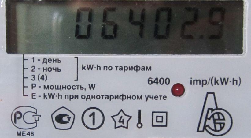 шкала счётчика
